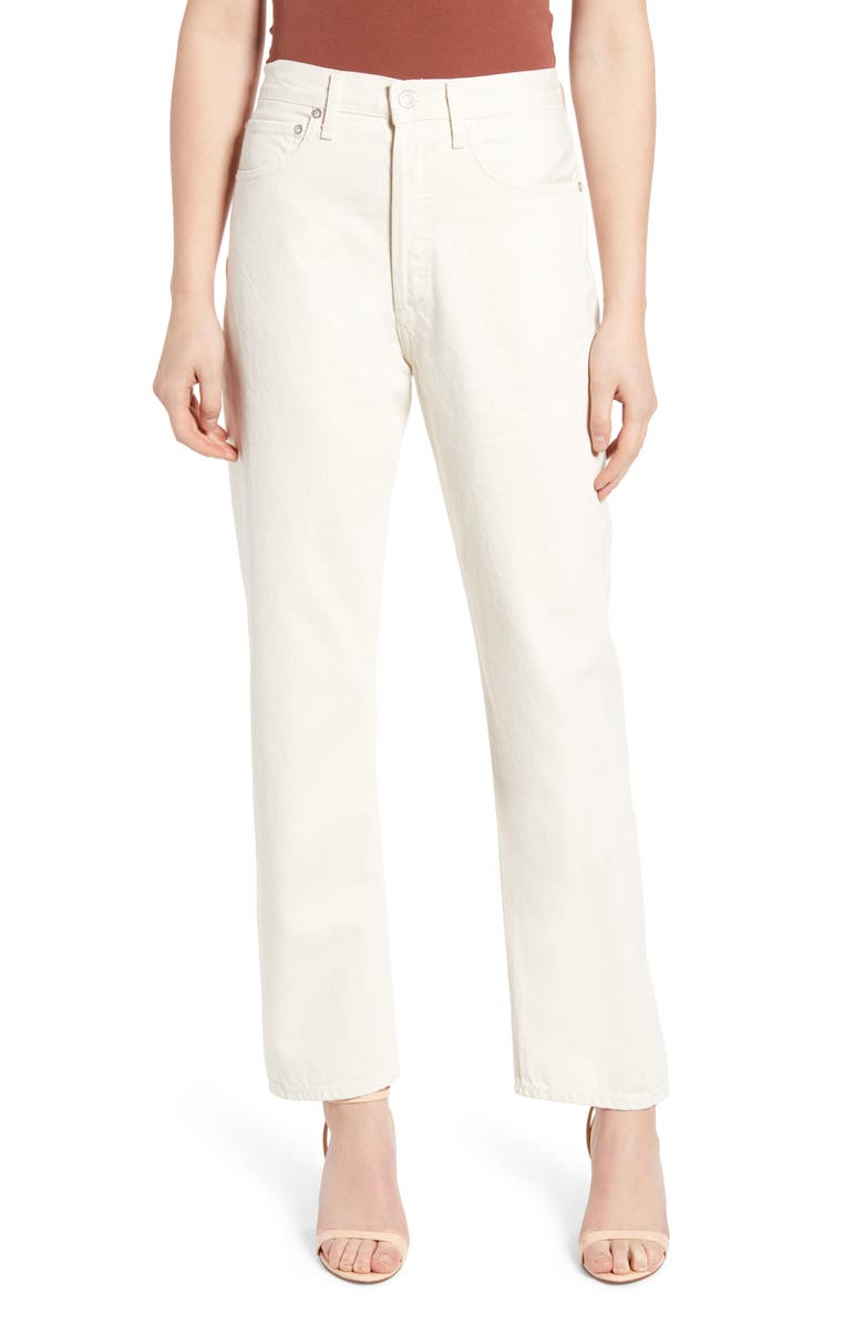 AGOLDE '90s High Waist Loose Fit Jeans, Main, color, PAPER