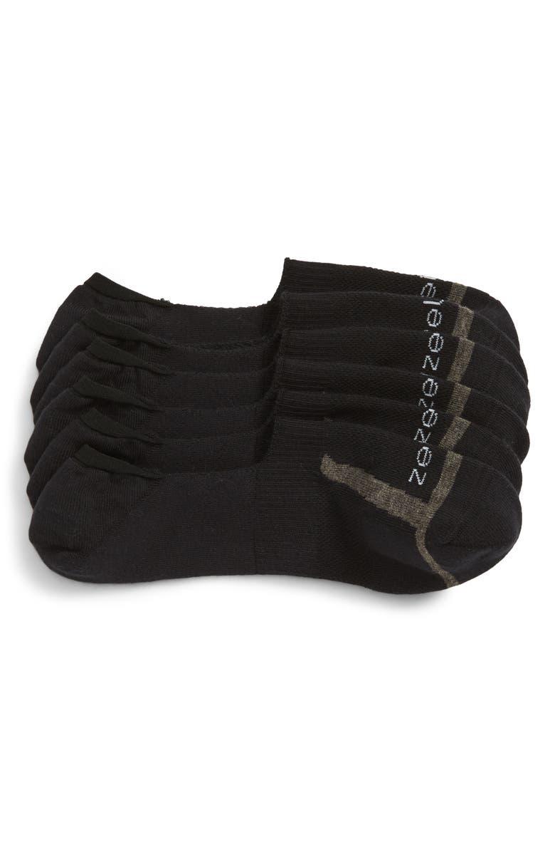 ZELLA 3-Pack New Liner Sport Socks, Main, color, BLACK