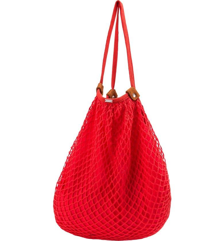 VOLCOM 'Island Vibe' Crochet Cotton Hobo Bag, Main, color, 642