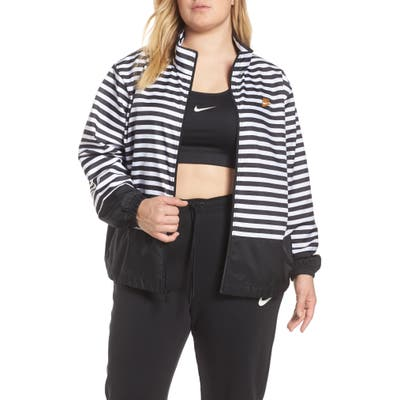 Plus Size Nike Womens Nsw Woven Track Jacket, White