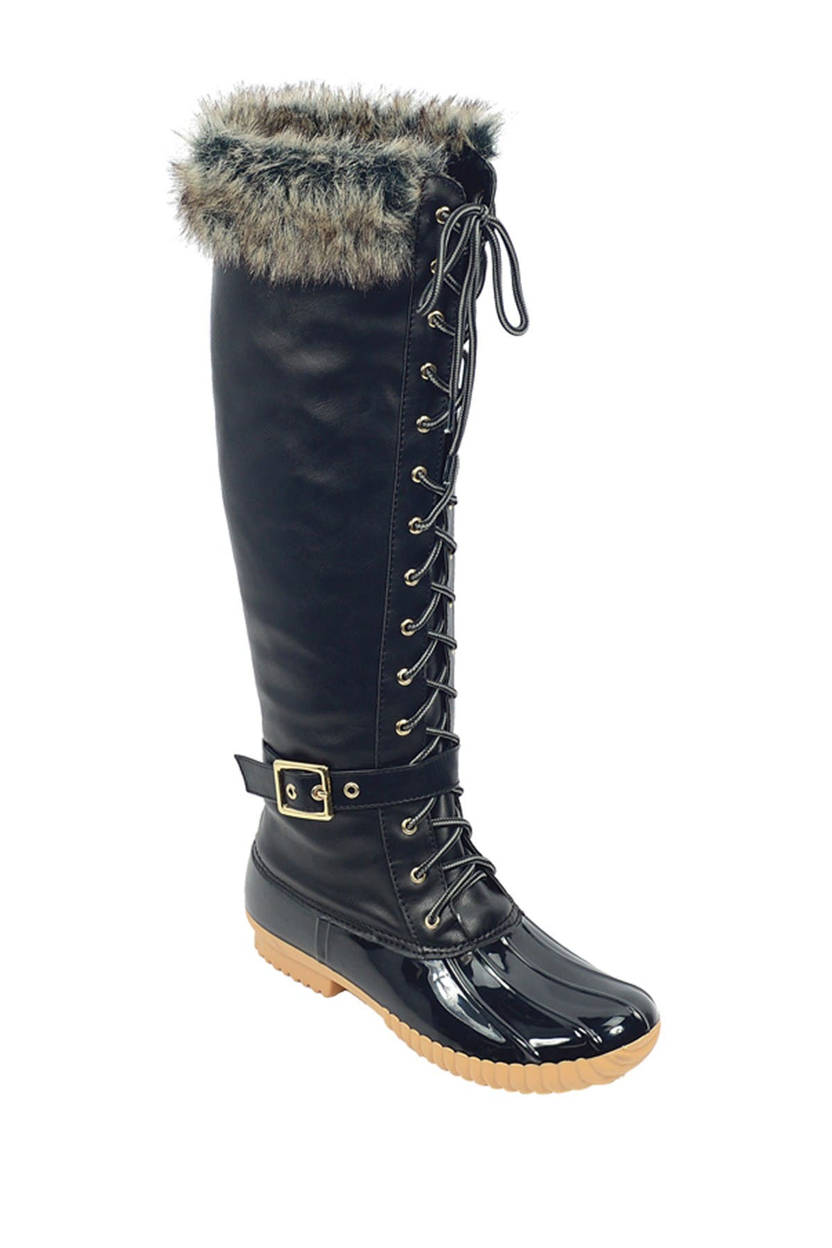 Image of Nature Breeze Duck Faux Fur Lace-Up Boot