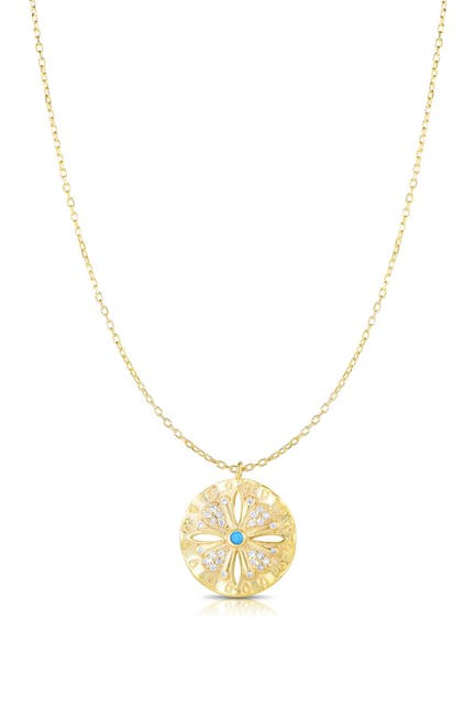 Image of Sphera Milano 14K Gold Vermeil CZ Medallion Pendant Necklace