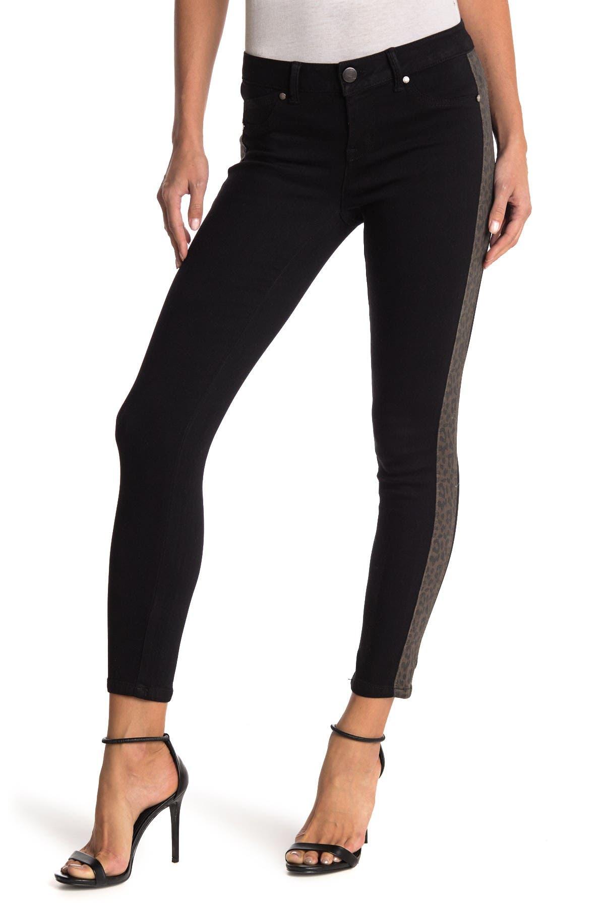 Image of 1822 Denim Cheetah Side Stripe Black Contour Jeans