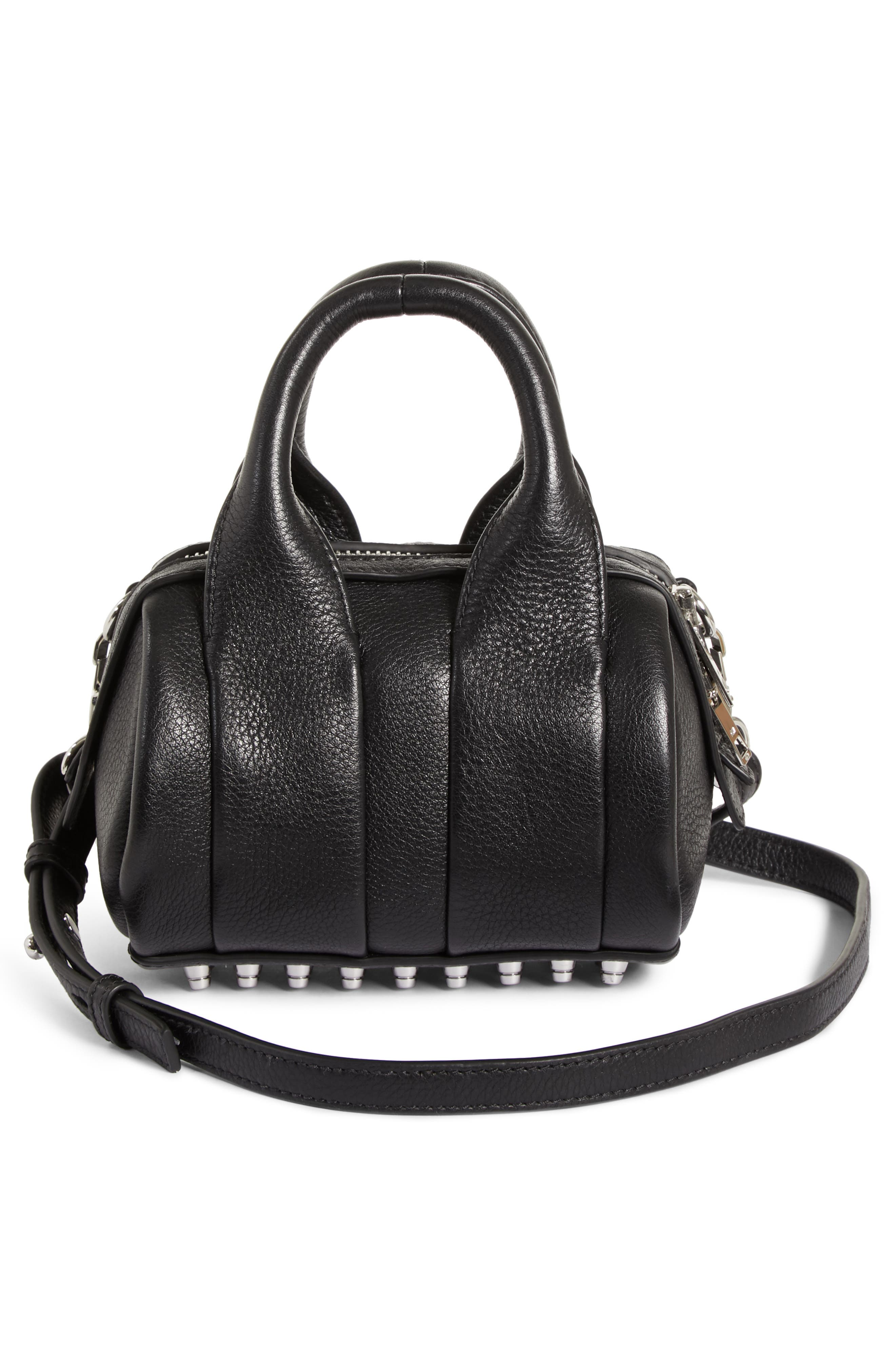 ,                             Baby Rockie Leather Satchel,                             Alternate thumbnail 3, color,                             001