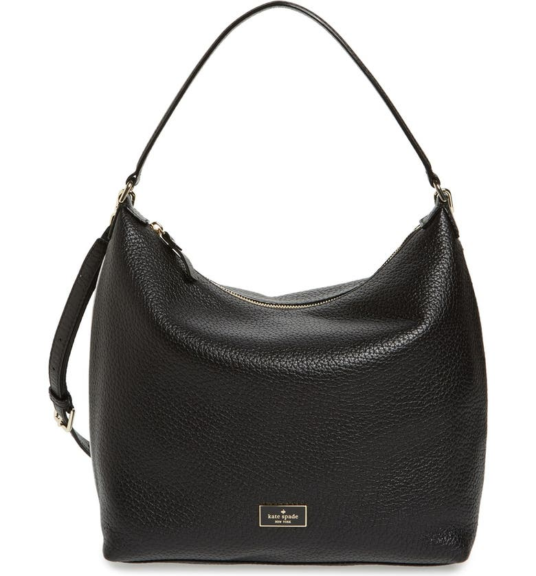 KATE SPADE NEW YORK 'prospect place - kaia' leather hobo, Main, color, 002