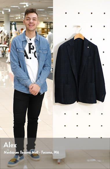 Trim Fit Plaid Cotton Blend Sport Coat, sales video thumbnail