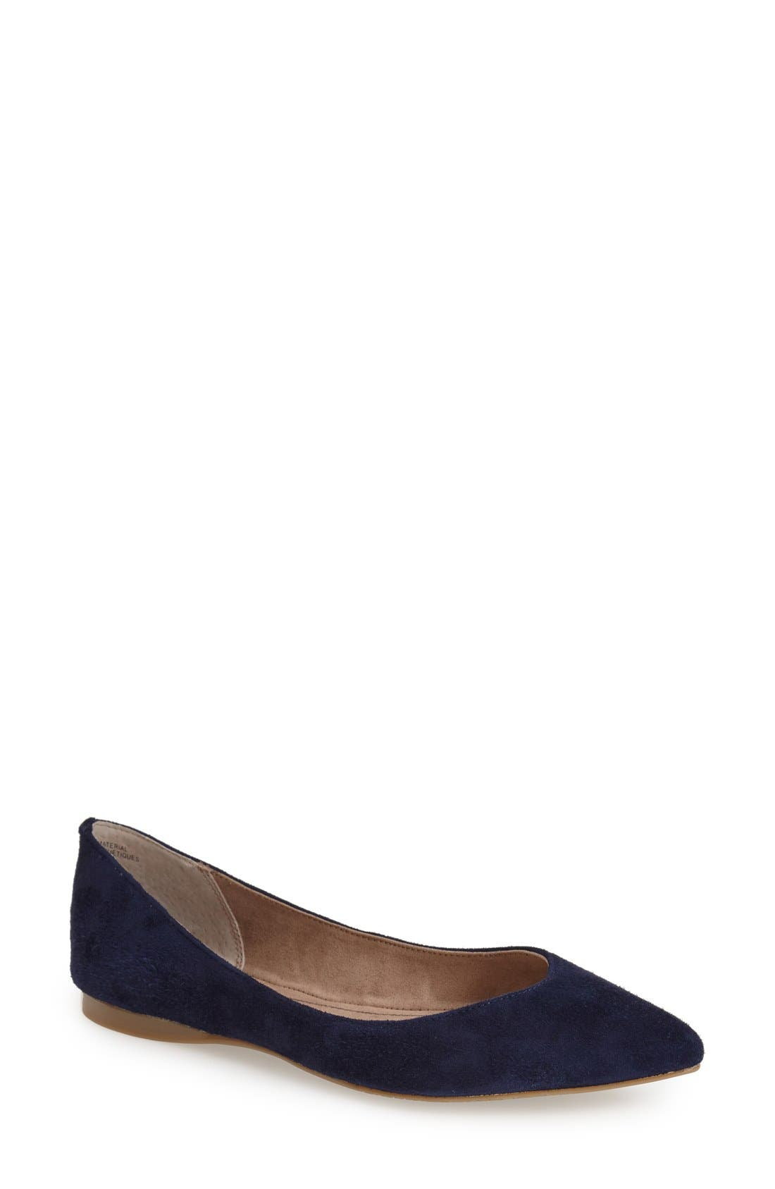 ,                             'Moveover' Pointy Toe Leather Flat,                             Main thumbnail 27, color,                             438