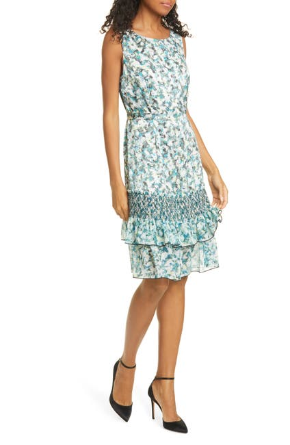 Image of DYVNA Chacha Ruffle Floral Silk Dress