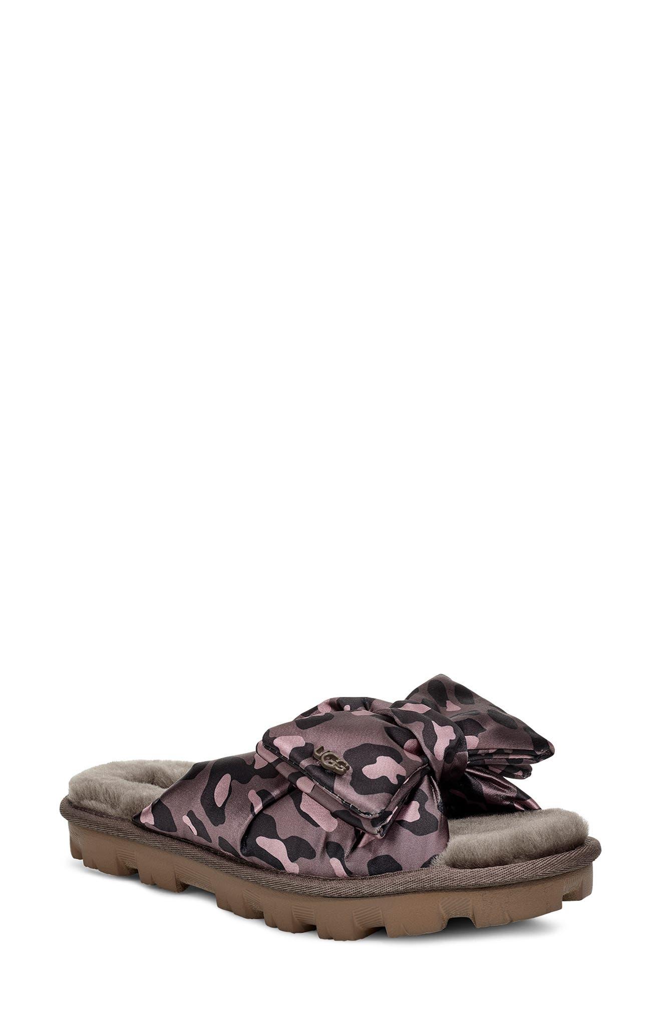 UGG® Lushette Puffer Genuine Shearling Slide (Women)