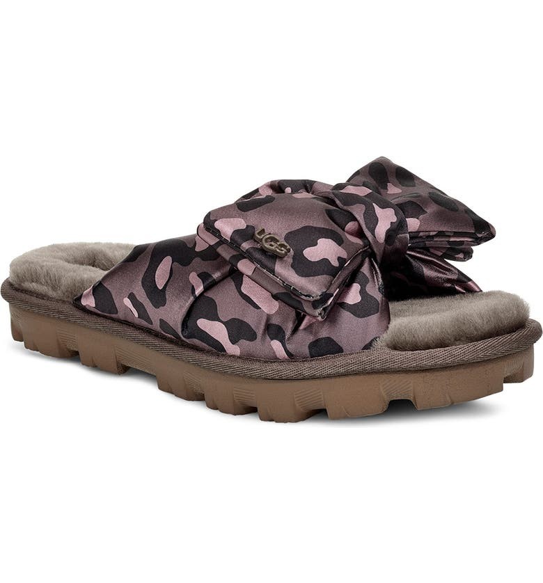 UGG<SUP>®</SUP> Lushette Puffer Genuine Shearling Slide, Main, color, 023