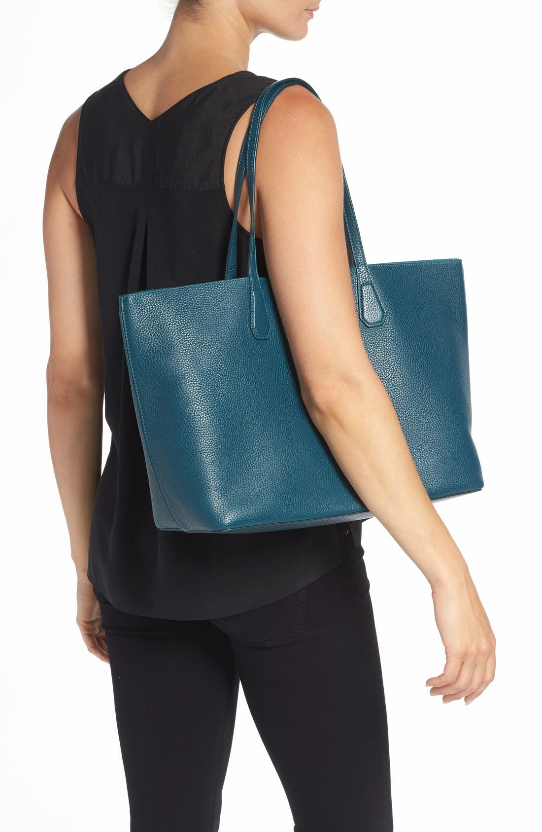,                             'Perry' Leather Tote,                             Alternate thumbnail 11, color,                             407