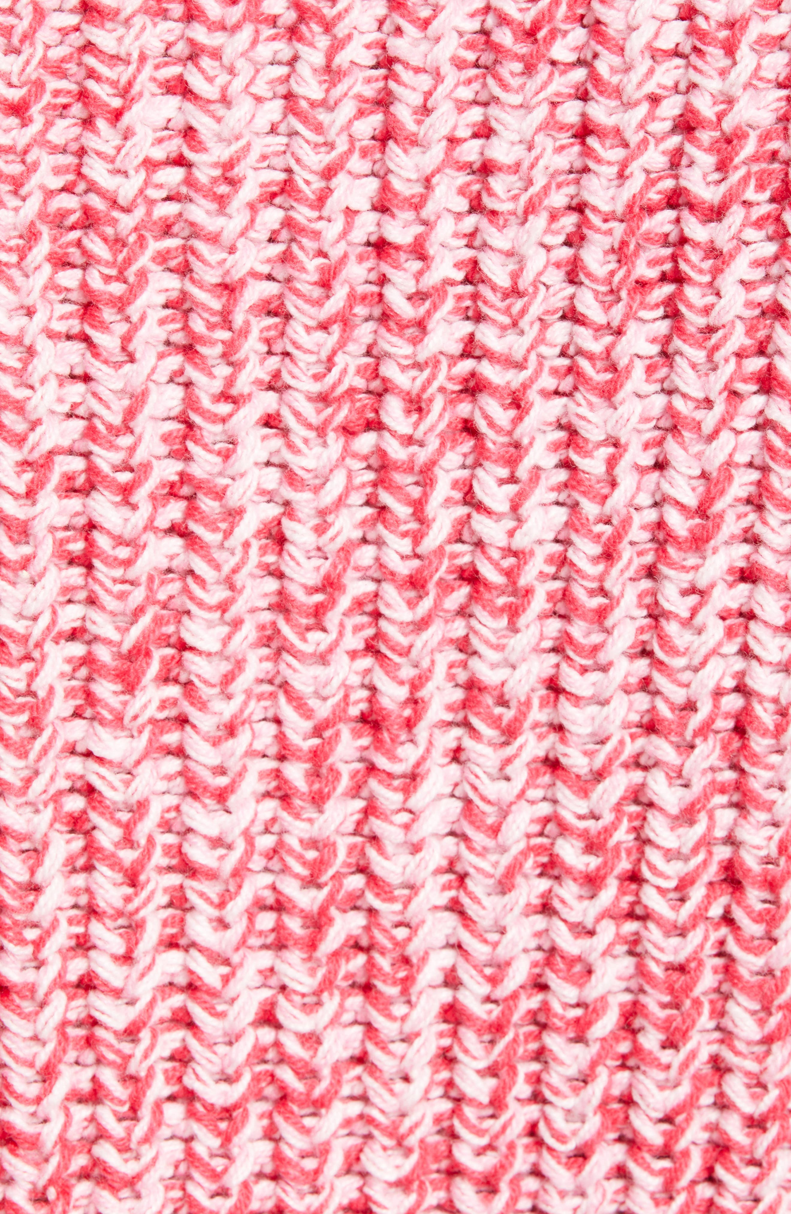 ,                             Blouson Sleeve Sweater,                             Alternate thumbnail 5, color,                             PINK MELANGE