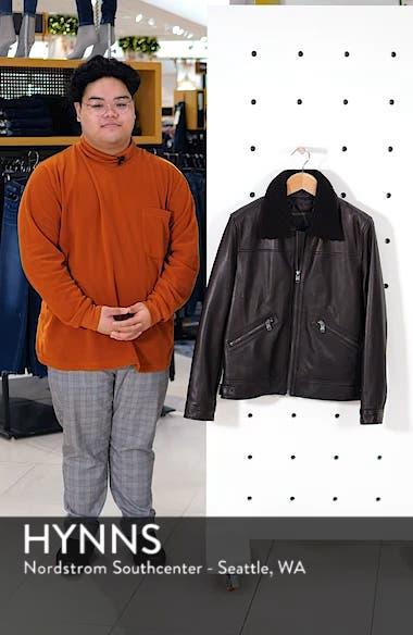 Kilmer Genuine Shearling Bomber Jacket, sales video thumbnail