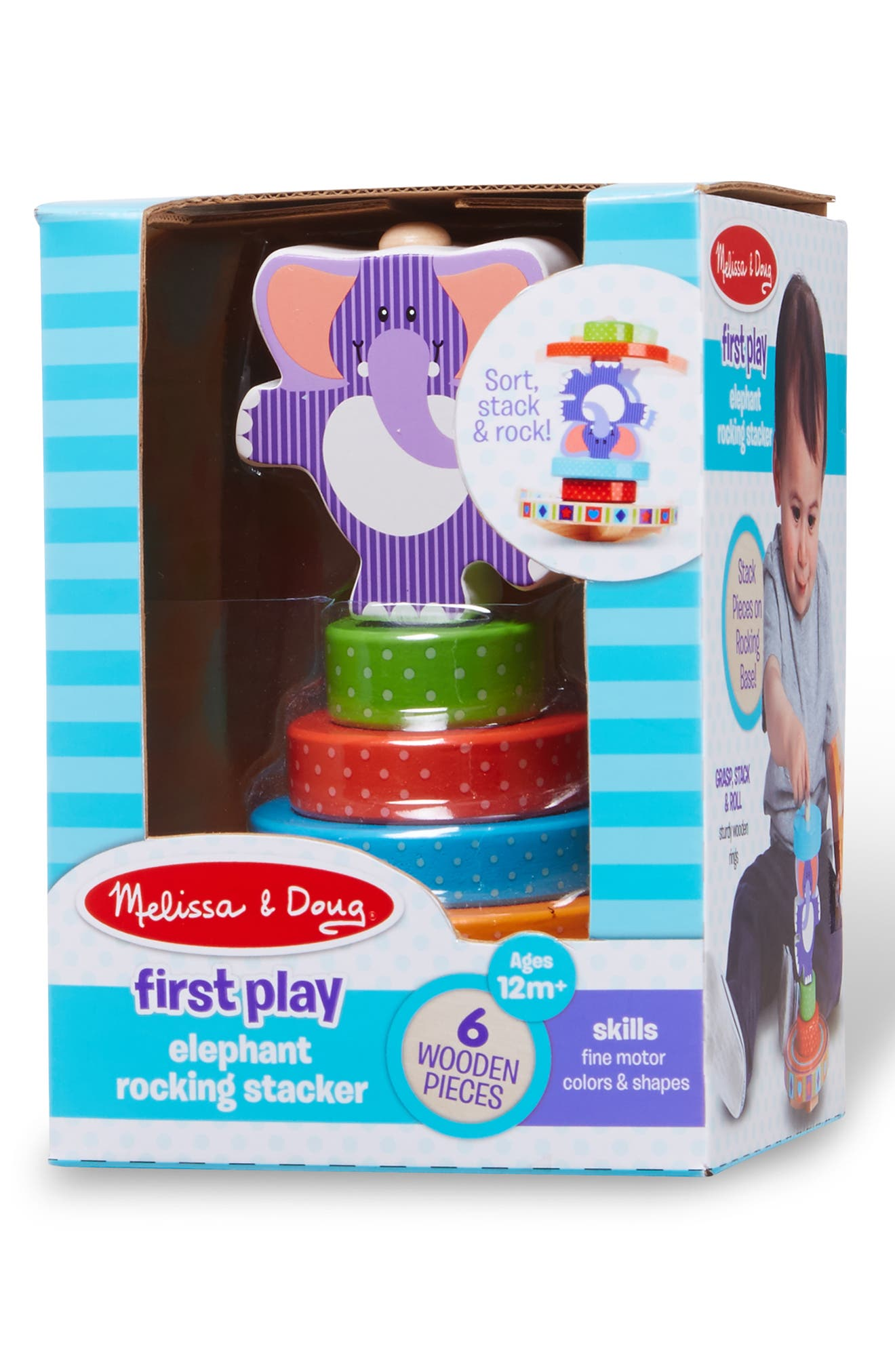 ,                             First Play Elephant Rocking Stacker,                             Alternate thumbnail 3, color,                             MULTICOLORED