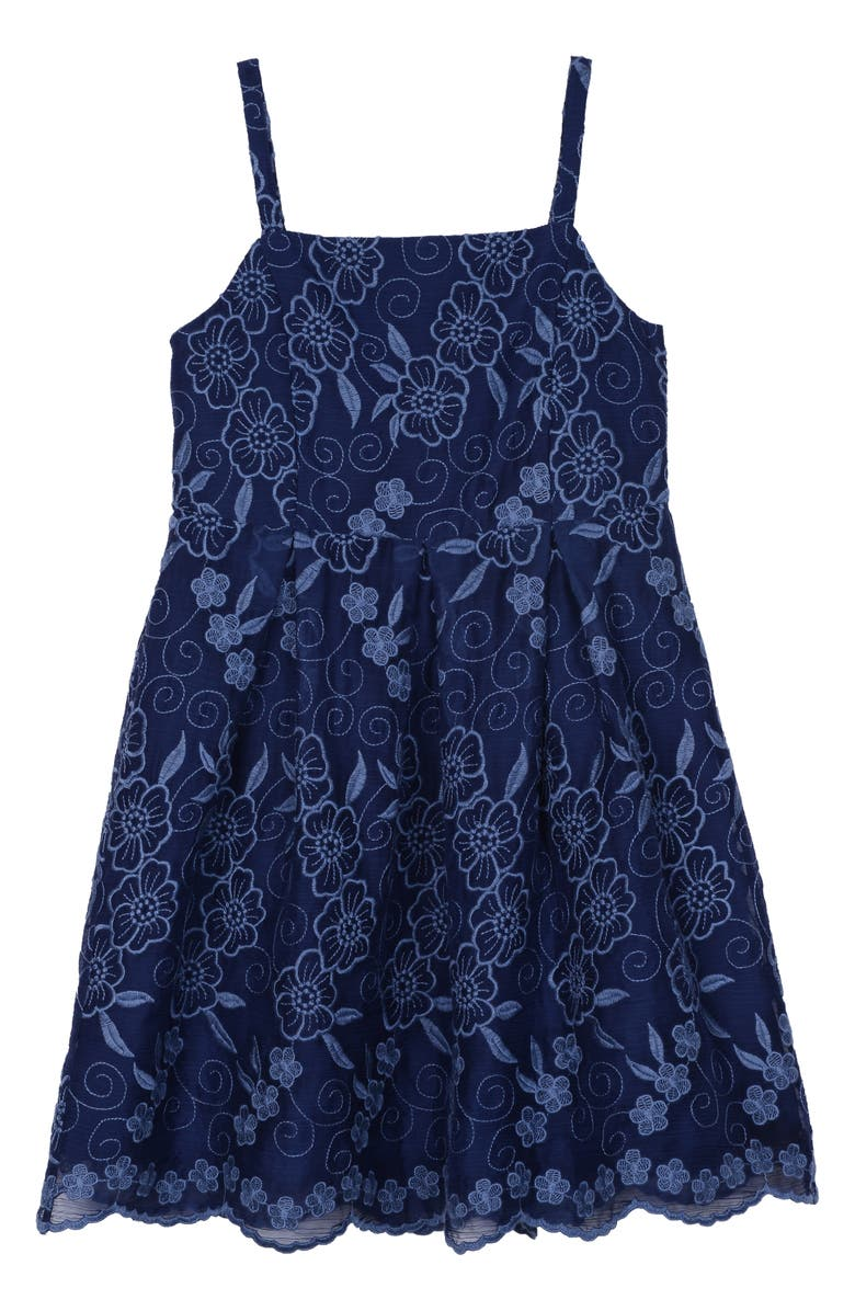 Pippa Julie Embroidered Floral Sundress Big Girls