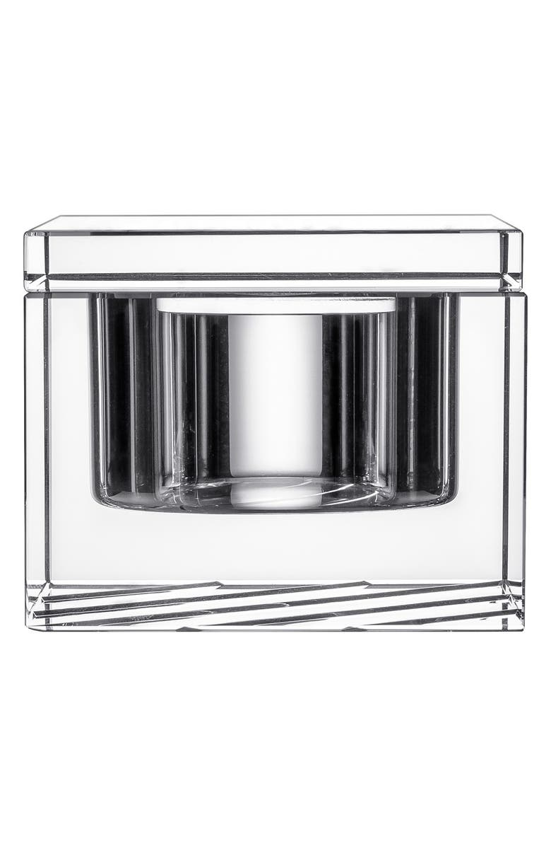 ORREFORS 'Stripe' Crystal Box & Lid, Main, color, CLEAR