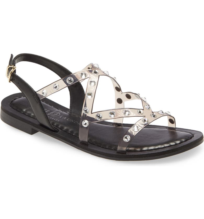 CHINESE LAUNDRY Candi Sandal, Main, color, SMOKE/ CLEAR FAUX LEATHER