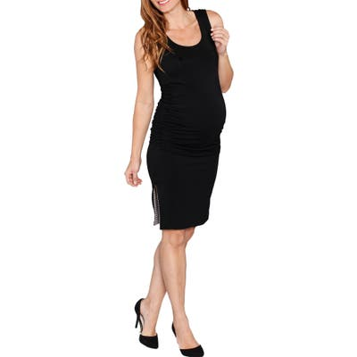 Angel Maternity Reversible Maternity Tank Dress, Black