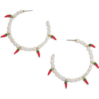 Baublebar Keshi Pearl Hoop Earrings