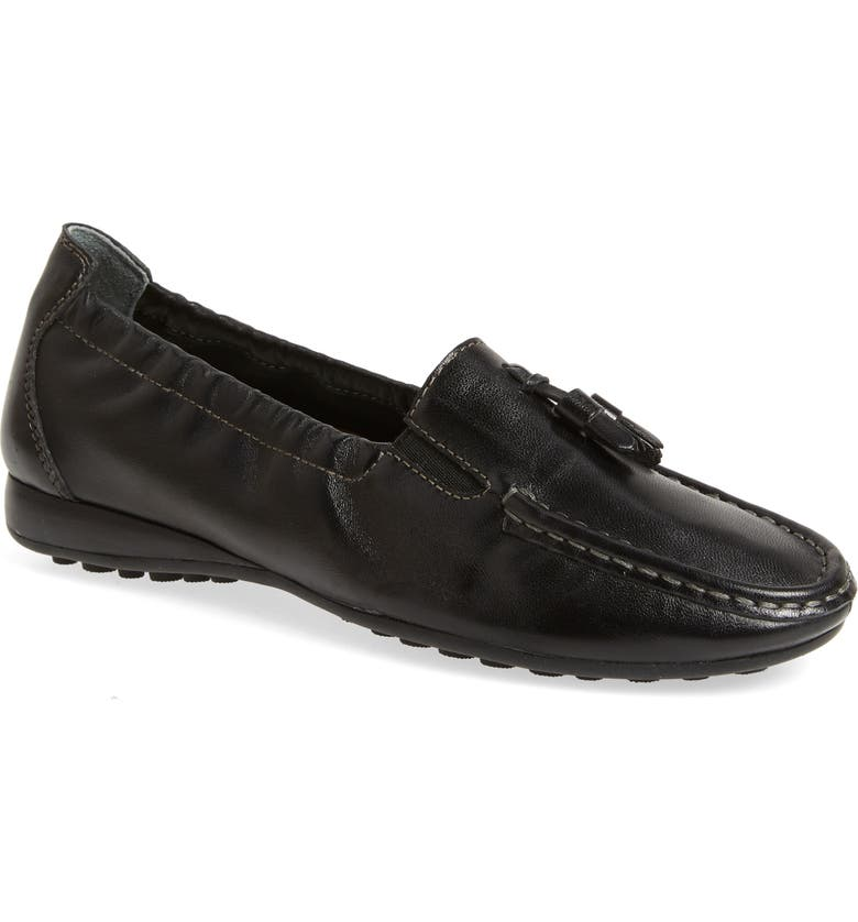 DAVID TATE Hypnotic Loafer, Main, color, BLACK NAPPA LEATHER