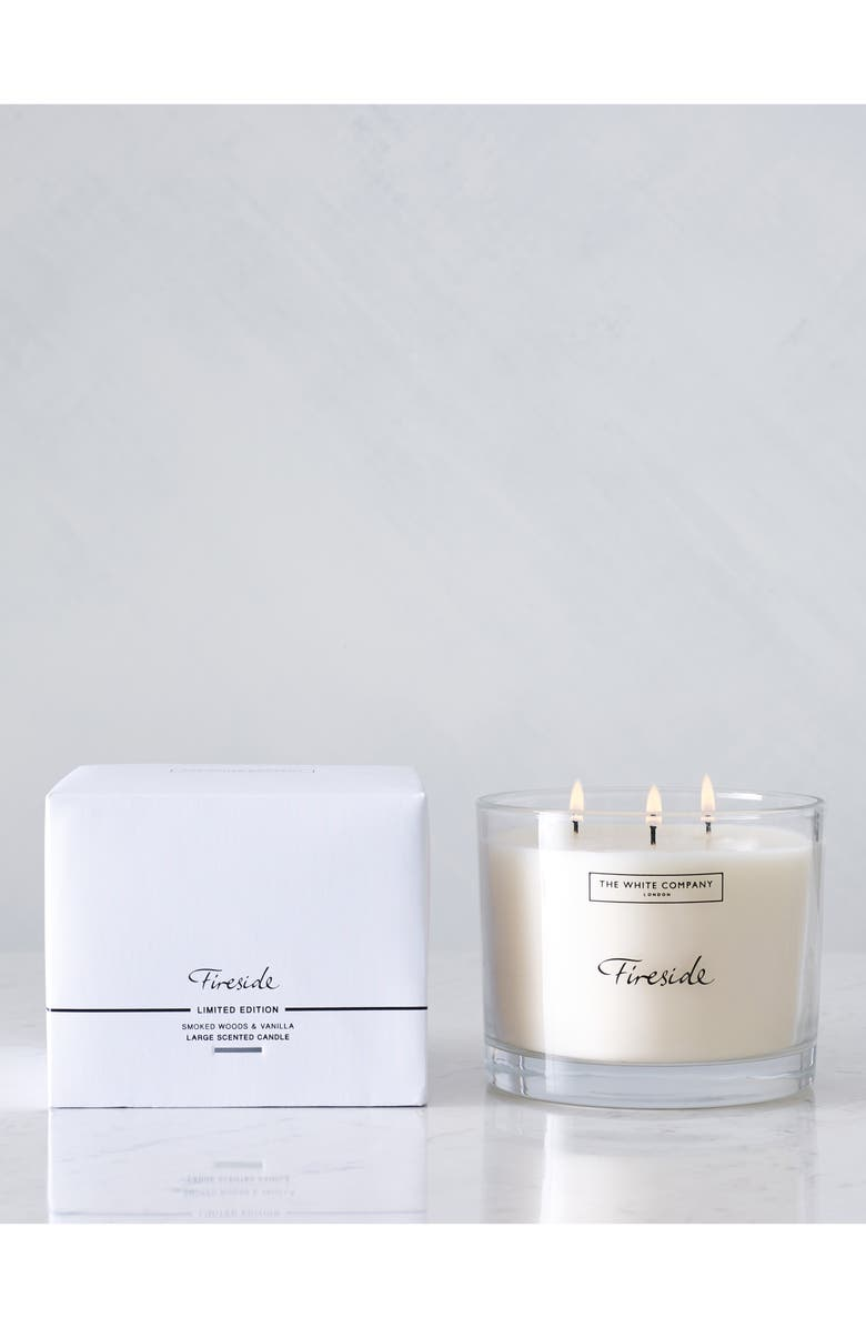 THE WHITE COMPANY Large Fireside Candle, Main, color, 100