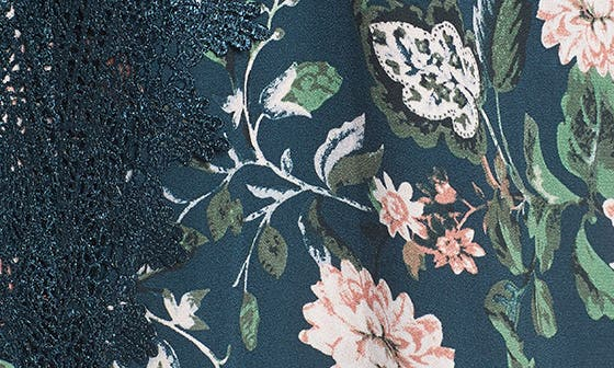 DUSTY TEAL FLORAL