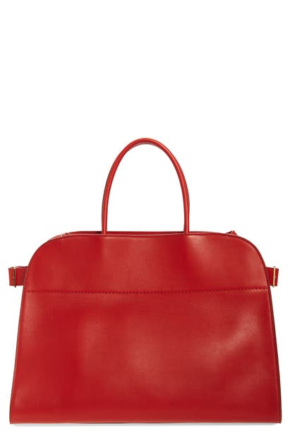 The Row Margaux 17 Leather Bag In Ruby Red