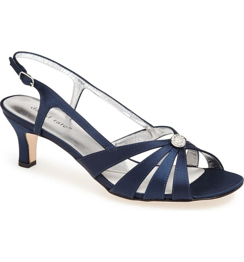 DAVID TATE 'Rosette' Sandal, Main, color, NAVY