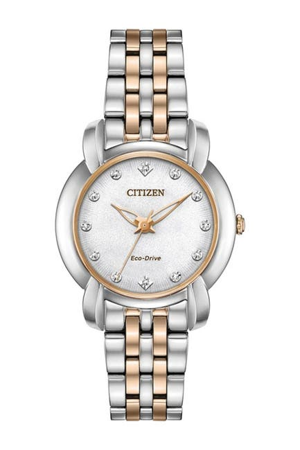 Image of Citizen Women's Standard Stainless Steel Eco-Drive Watch, 30mm