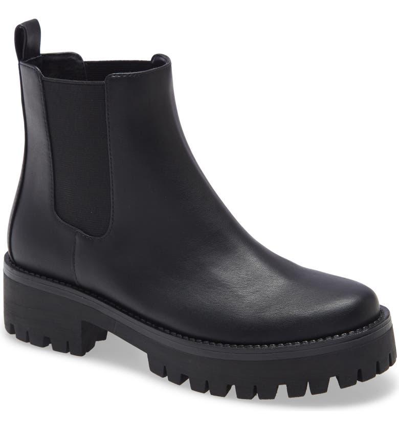 BP. Kora Lug Chelsea Boot, Main, color, BLACK