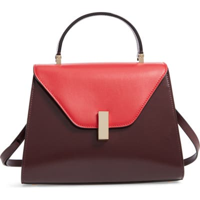 Valextra Iside Medium Colorblock Leather Top Handle Bag - Pink