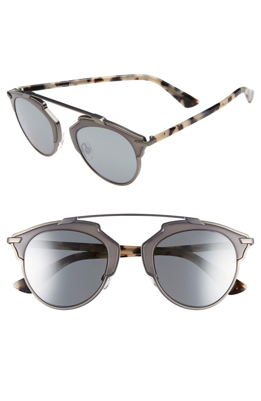 ,                             So Real 48mm Brow Bar Sunglasses,                             Main thumbnail 39, color,                             046
