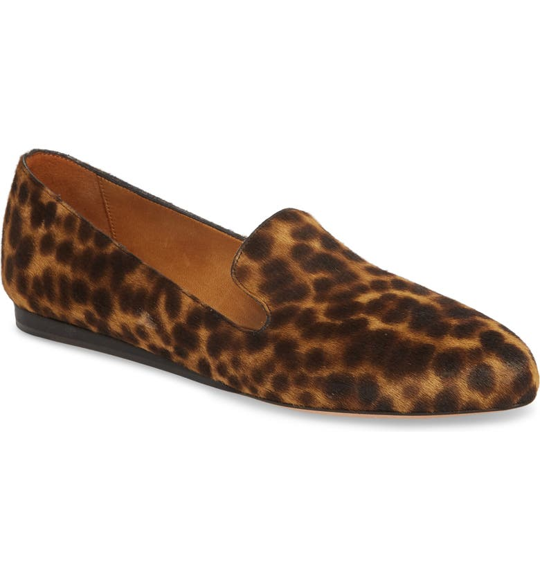 VERONICA BEARD Griffin Genuine Calf Hair Loafer, Main, color, LEOPARD