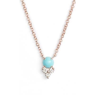 Ef Collection Diamond Trio Stone Pendant Necklace