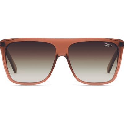 Quay Australia On The Low 60Mm Oversize Square Sunglasses - Coffee/ Brown