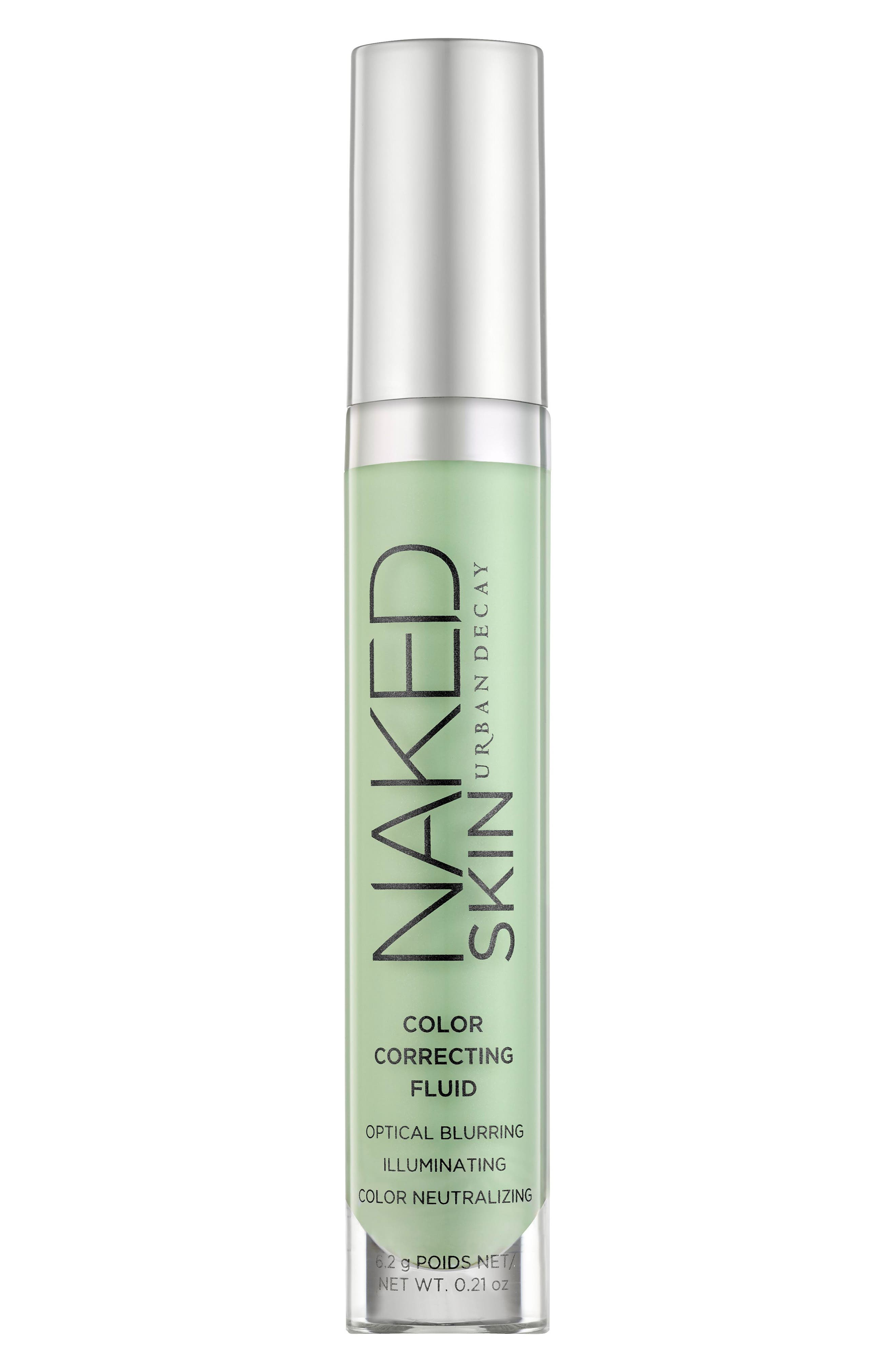 Naked Skin Color Correcting Fluid, Main, color, GREEN