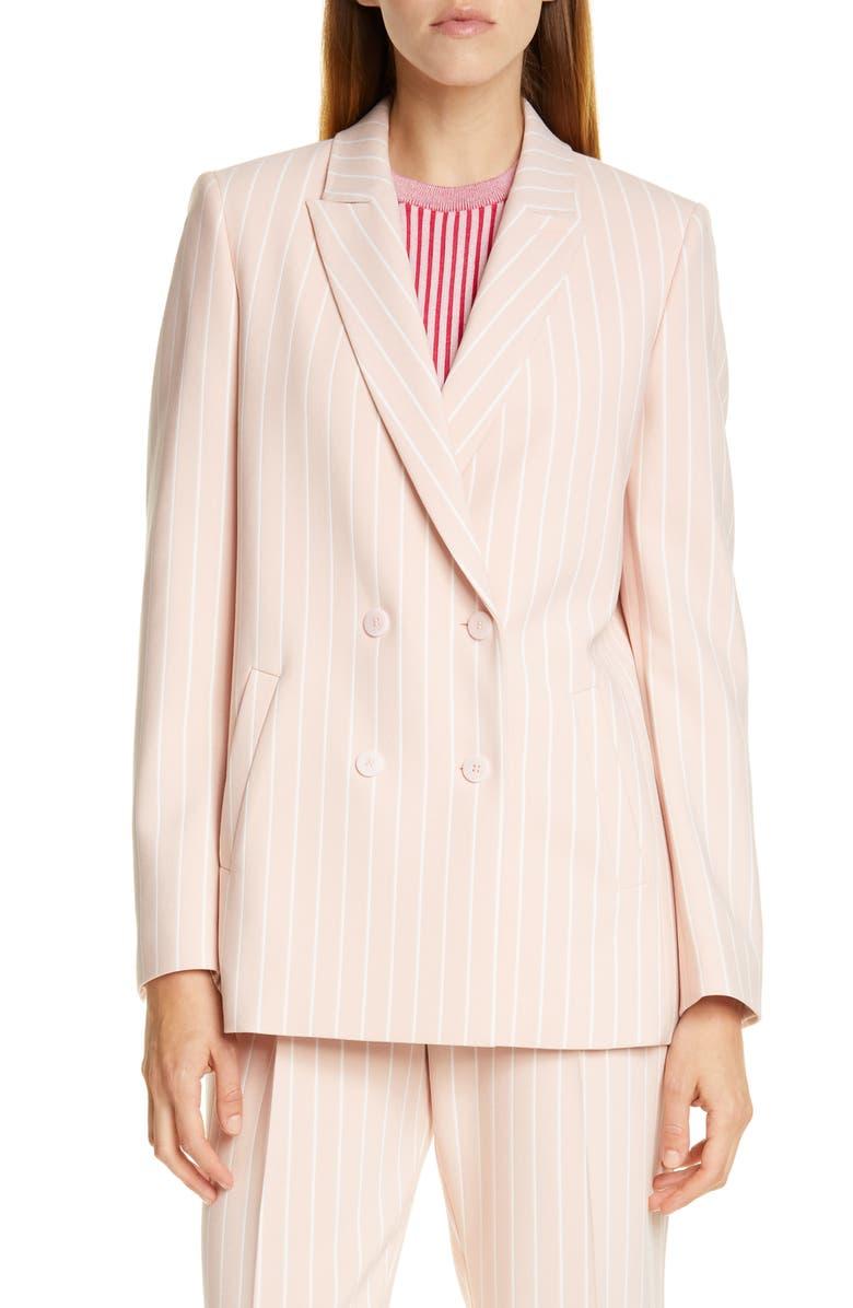 HUGO Akata Pinstripe Suit Jacket, Main, color, PEACH WHIP PINSTRIPE