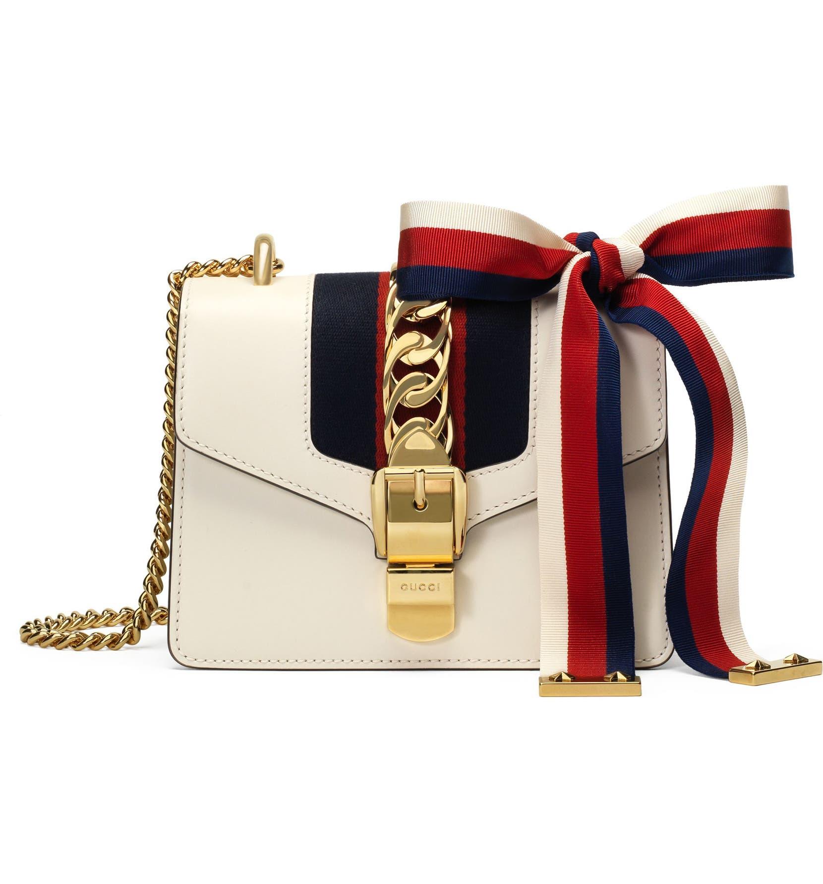 d8a426e08210 Gucci Mini Sylvie Leather Shoulder Bag | Nordstrom