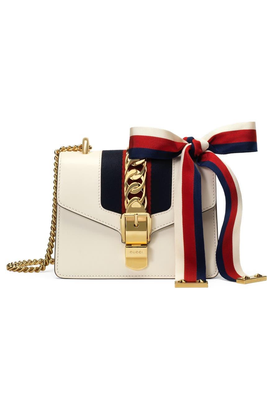 0d31a6e2a528 Gucci Mini Sylvie Leather Shoulder Bag | Nordstrom