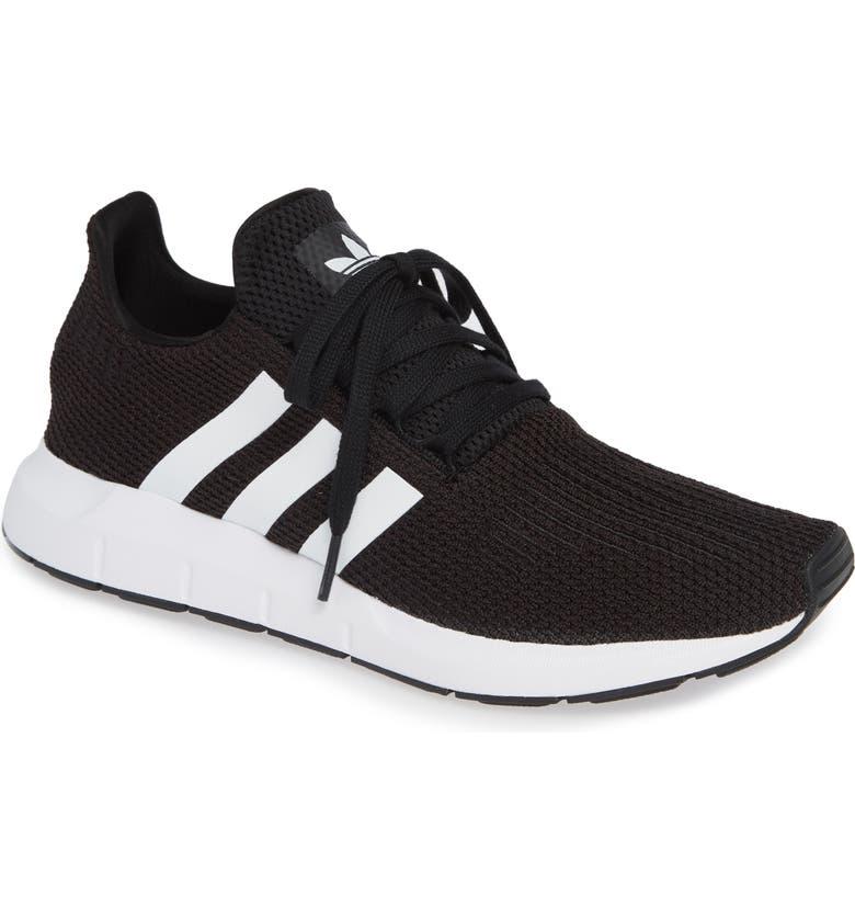 ADIDAS Swift Run Sneaker, Main, color, BLACK/ WHITE