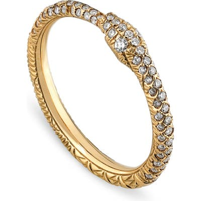 Gucci Ouroboros Diamond Pave Snake Ring