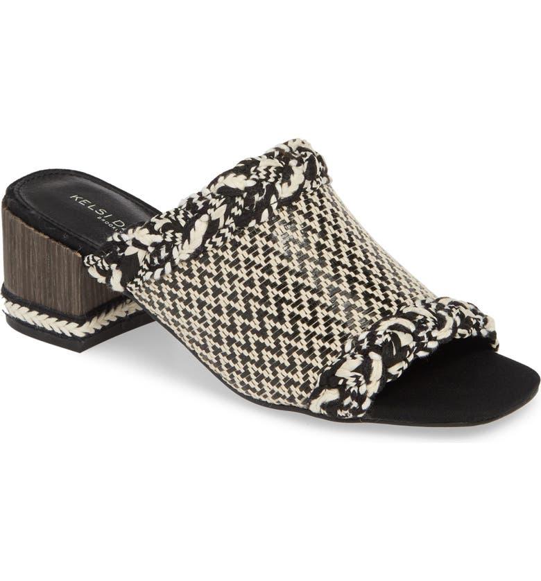 KELSI DAGGER BROOKLYN Scarlet Slide Sandal, Main, color, BLACK