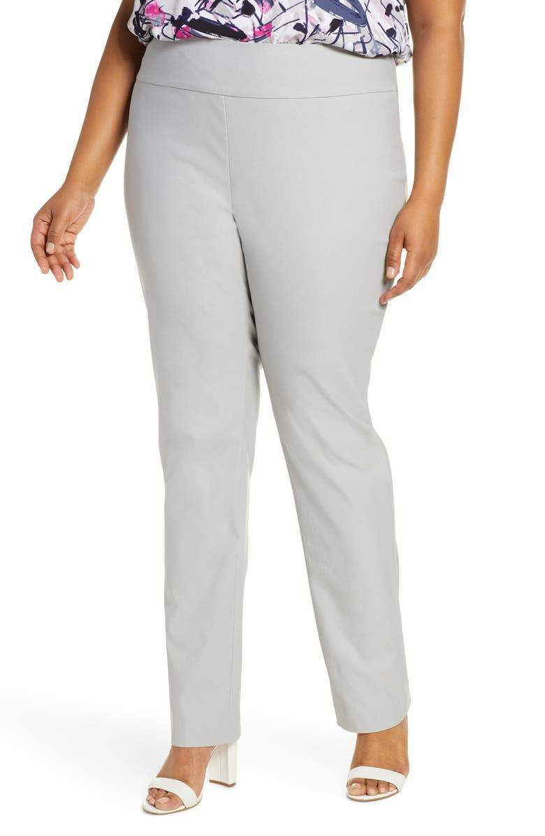 NIC+ZOE Wonder Stretch Straight-Leg Pants, Main, color, 055