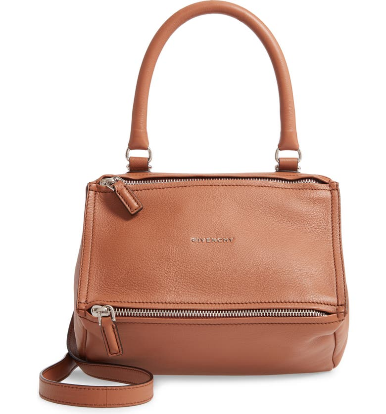 GIVENCHY 'Small Pandora' Leather Satchel, Main, color, 200