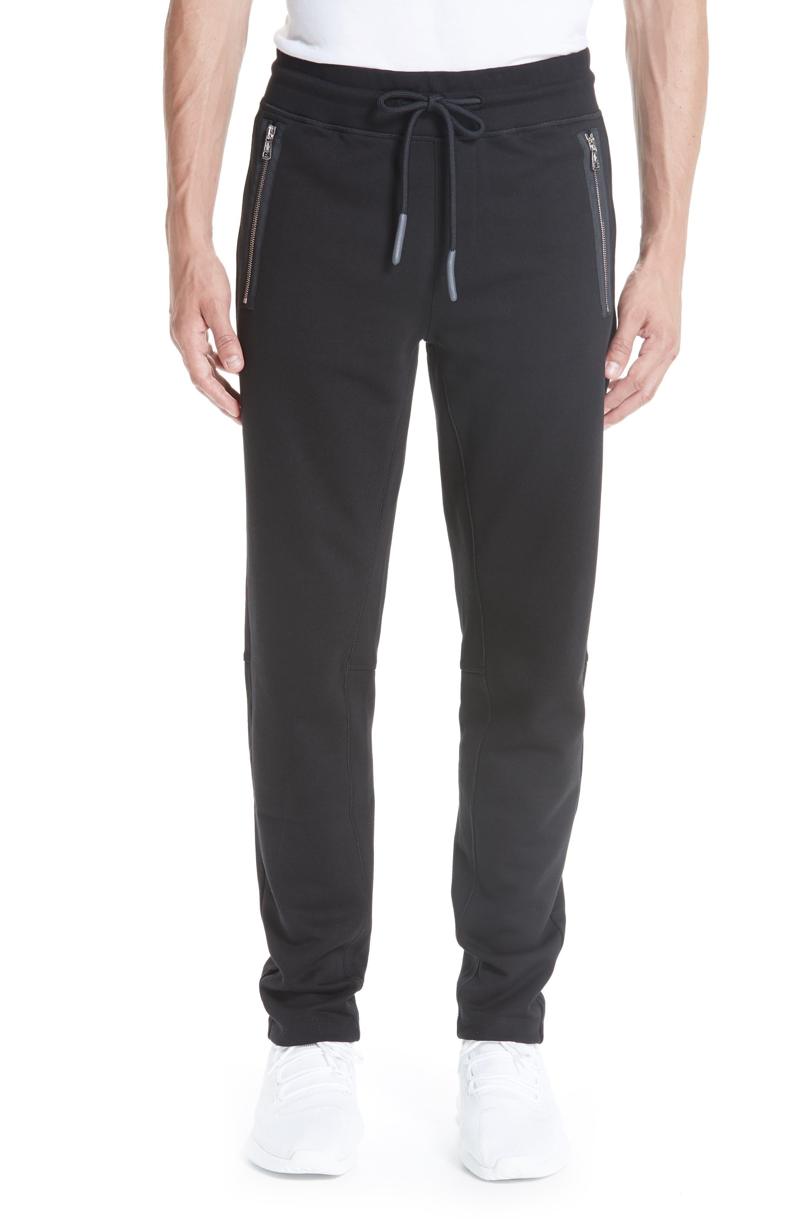 Moncler Cotton Sweatpants, Black