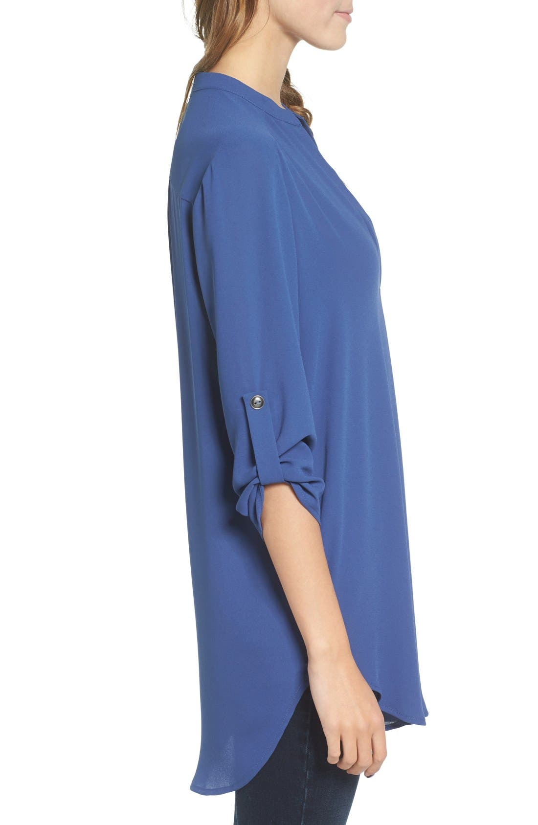 ,                             Perfect Roll Tab Sleeve Tunic,                             Alternate thumbnail 302, color,                             461