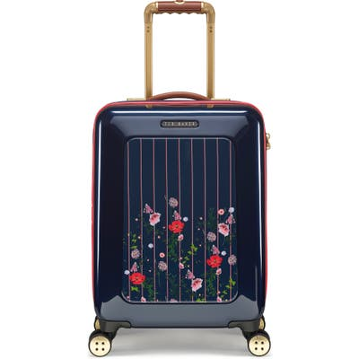 Ted Baker London Small Take Flight Hedgerow 21-Inch Spinner Carry-On - Blue