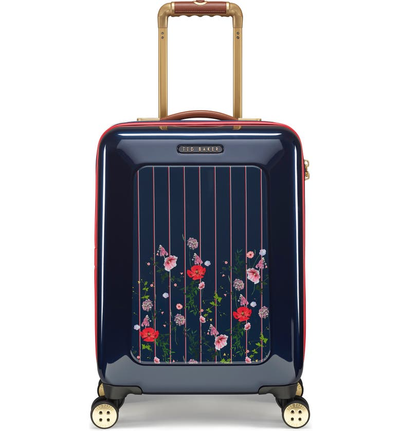 TED BAKER LONDON Small Take Flight Hedgerow 21-Inch Spinner Carry-On, Main, color, BLUE