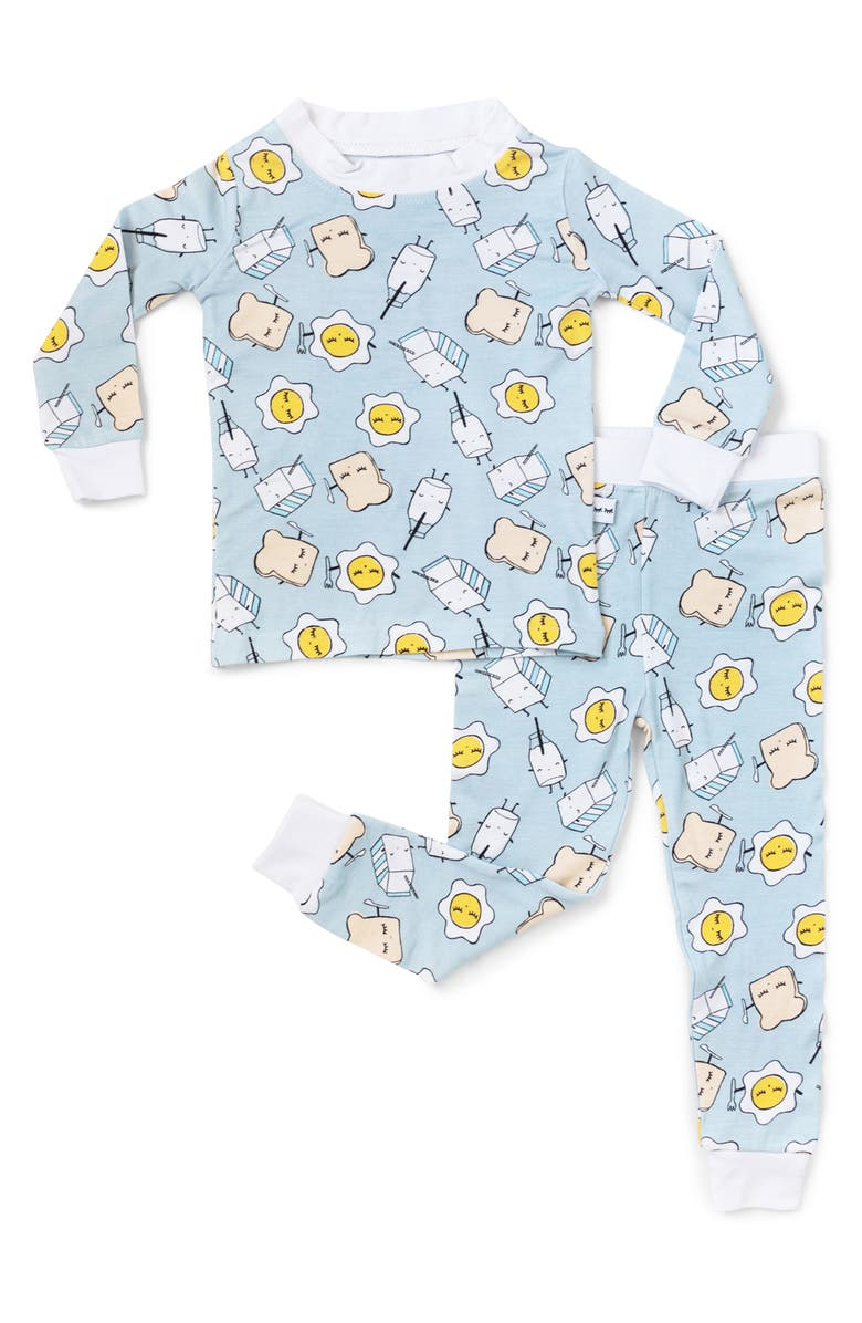 LITTLE SLEEPIES Breakfast Buddies Fitted Two-Piece Pajamas, Main, color, 400
