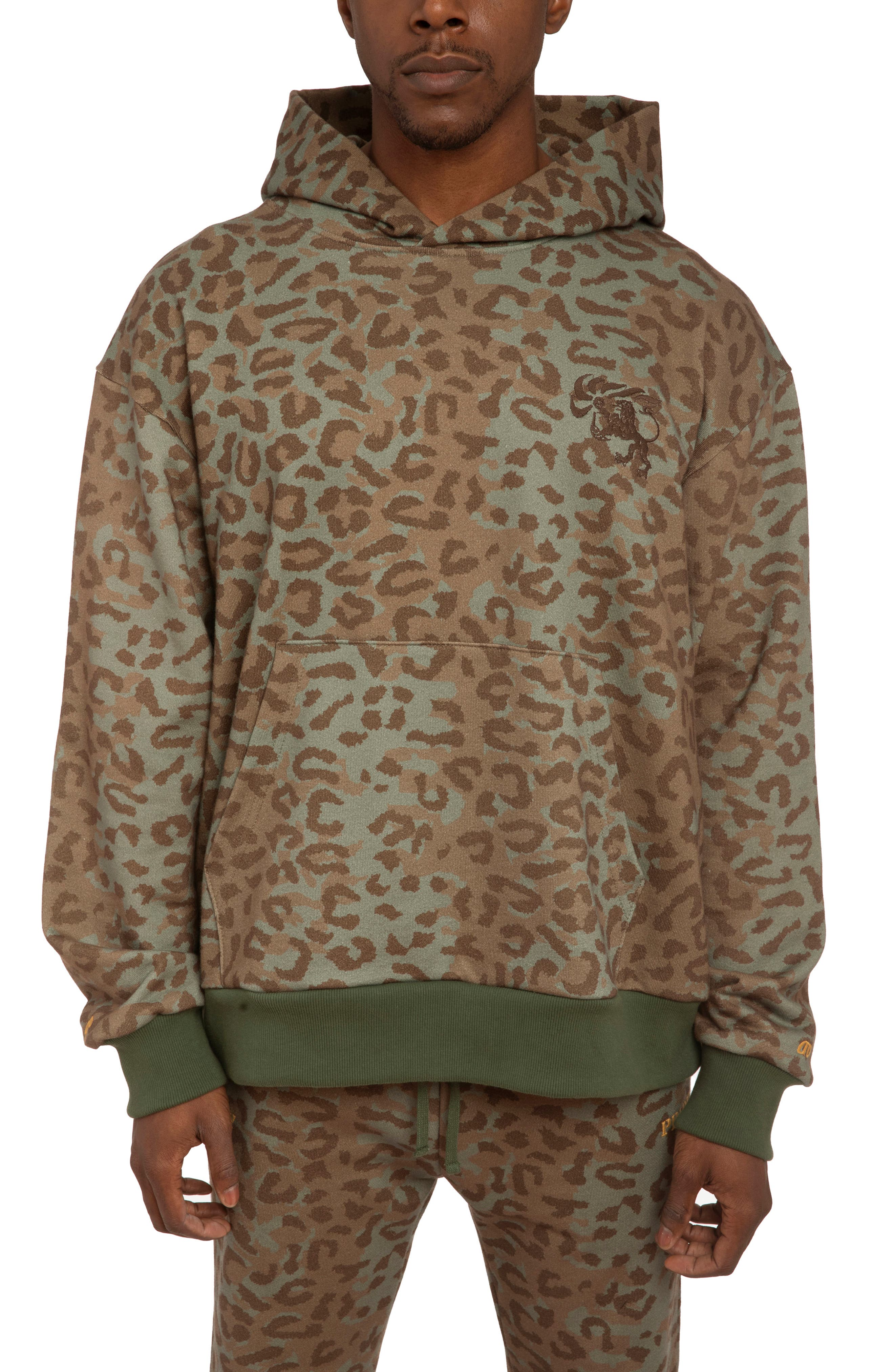 Men's Hstry By Nas X Coming 2 America Unity & Pride Leopard French Terry Hoodie